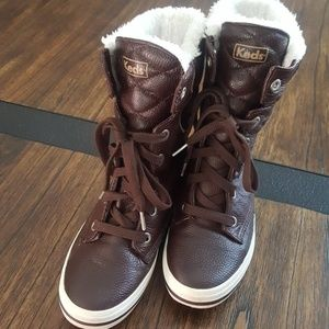 Keds faux fur and leather boots.